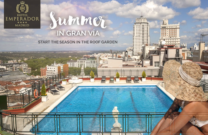 The roof garden at hotel emperador is ready for summer - Garden center madrid ...